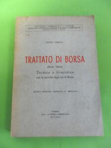 GINELLA. TRATTATO DI BORSA TECNICO GIURIDICO. SPA 1959
