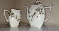 Charles Field Haviland Schleiger Antique CFH/GDM Teapot with Lid and creamer-