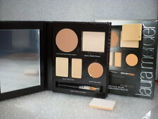 LAURA MERCIER FLAWLESS FACE BOOK PORTABLE COMPLEXION  PALETTE SAND NIB + BRUSH