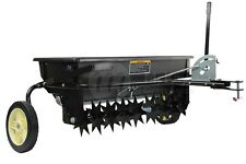 McKays Tow Behind Combination Aerator Seed Spreader, Spike Fertiliser Spreader