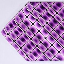 100% new VITALIANO PANCALDI tie lilac purple PLEATED SILK necktie 160390