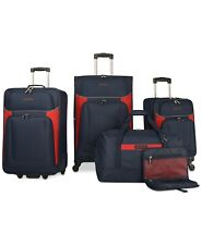 Nautica Oceanview 5 Piece Blue Luggage Set Navy Red 6018