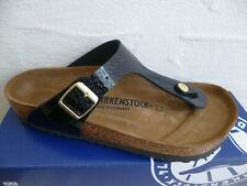 Birkenstock Gizeh Flip Flops Mules Sandal Magic Snake Black 1009113 New