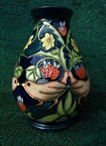 Moorcroft Strawberry Thief Vase