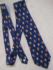 BHS MENS BLUE PATTERNED SILK NECKTIE TIE