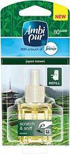 6 x 20ML AMBI PUR Febreze PLUG IN RICARICA DEODORANTE-Japan Tatami
