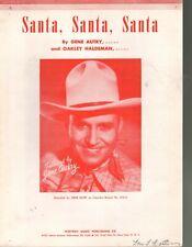 Santa Santa Santa 1949 Gene Autry - Christmas Sheet Music