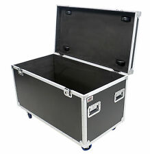 "45"" Utility Trunk ATA Flight Road Case 4"" wheels - Rubber Lined"