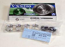 "Aoshima 1/24 VIP VXS210 19"" Wheel & Tire Set For Plastic Models 2471 (08)"