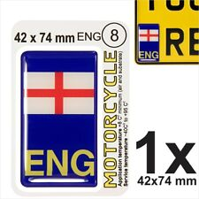 ENG English flag Motorcycles NUMBER PLATE 3D GEL STICKER Resin Domed Badge/Decal