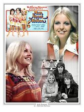 """Sally Thomsett Man about the House 16"""" x 12"""" Montage Artwork Photo Poster"""