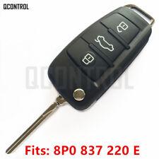Remote Key  fob for AUDI A3 S3 A4 S4 TT 8P0 837 220E HU66 Blade 5FA009272-31