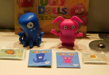 2 UglyDolls Mini Mystery Bags Figures: Blue Fingertoes & Pink Uppy -Rare Octopus