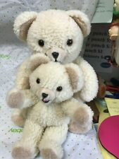 "Two Russ Berrie ""Snuggle"" Bears-15-"" And 10""-cs"