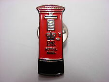 Post box pin badge. London - Traditional design . Souvenir lapel badge