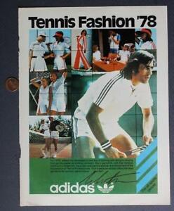 Tennis Legend Ilie Nastase signed autograph 1978 Addidas clothing line ad photo!