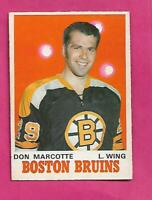 1970-71 OPC # 138 BRUINS DON MARCOTTE  ROOKIE EX-MT CARD (INV# C5427)