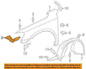 VW VOLKSWAGEN OEM 12-15 Passat Fender-Front Bracket Right 561821136