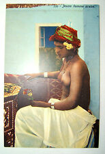 CPA - ETHNIQUE - AFRIQUE DU NORD - JEUNE FEMME ARABE - SEINS NUS