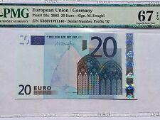 EU / Germany, 2002 20 Euro P16x PMG 67 EPQ