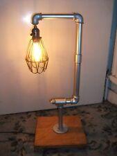 Vintage Industrial Retro Urban Rustic Metal Pipe Desk Table Lamp Light UK PLUG