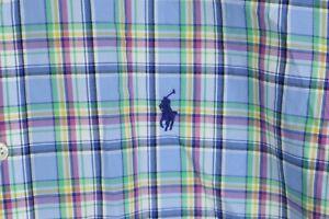 Ralph Lauren Mens sz XL Multi Color Plaid Short Sleeve Button up Shirt