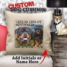 Personalizzato Rottweiler Cucciolo Di Cane Vintage Cuscino Tela Regalo