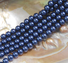 """8mm 10mm 12mm 10 Colors South Sea Shell Pearl Loose Beads Gemstones 15"""" AAA"""
