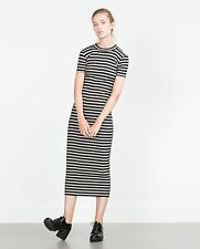 Zara Short Sleeve Striped Dresses for Women