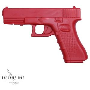 "Practice Red Training Gun Polypropylene 9"" Rubber Plastic Glock 17 Self Defense"