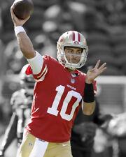 San Francisco 49ers JIMMY GAROPPOLO Glossy 8x10 Photo Spotlight Football Poster