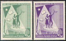 Chili 1960 Wry/Refugee année/réfugiés/Arbre/Livre/Protection/personnes 2 V Set (n41810)
