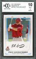 Paul Goldschmidt Rookie Card 2011 Bowman Prospects #Bp99 BGS BCCG 10
