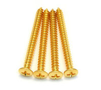 Pack of 4 Gold Neckplate Screws for Electric Guitar and Bass