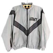 Army PT Jacket Women Size Large Reflective Vented Back Training Windbreaker