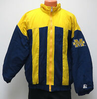 vtg MICHIGAN WOLVERINES Starter Ski JACKET LARGE ncaa puffer navy yellow 90s L