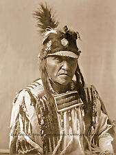 Giclee Reprint Vintage Native American Photograph, Forked Iron, CROW INDIAN MAN