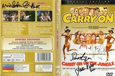 Carry On Up The Jungle DVD Signed by 4 - Handsigned and Genuine - AFTAL