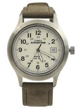 Timex Men's T49870 Expedition Silver/Brown Analog Watch