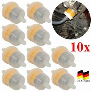 10tlg Benzinfilter Sprit Kraftstofffilter 6mm Auto PKW Motorrad Roller Mofa Quad