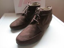 NWB American Eagle Women's Carly Wedge Moc Brown Lace Up Ankle Boot size US10