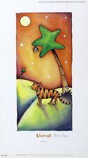 "ABBIE CARR ""Thomas"" tiger bat tree stars SIGNED LIM ED! SIZE:34cm x 19cm NEW"