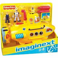DEEP SEA SUBMARINE set Fisher Price NEW Imaginext yellow sub scuba underwater