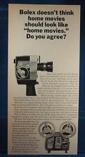 Vintage Magazine Ad Print Design Advertising Bolex Home Movie System