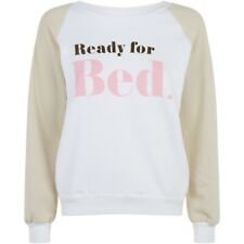 Wildfox Couture Womens Ready for Bed Pullover Sweater White Size L