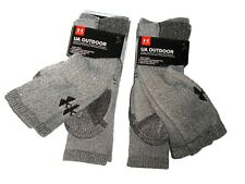 Under Armour men's Brown Marl wool blend Boot socks 4 pair size Large