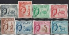 h009) Somaliland Protectorate. 1953/58. MM SG 137 to 144 Royalty. c£19+
