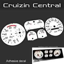 Plastic WHITE DECALS Holden Torana UC SLE gauge dash tacho speedo adhesive