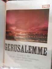 GERUSALEMME Mario De Biasi Epoca 1968 Grande formato storia contemporanea libro