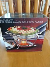 Godinger Paul Revere Silver Plated 2 Qt Gallery Round Food Warmer Vintage 1987